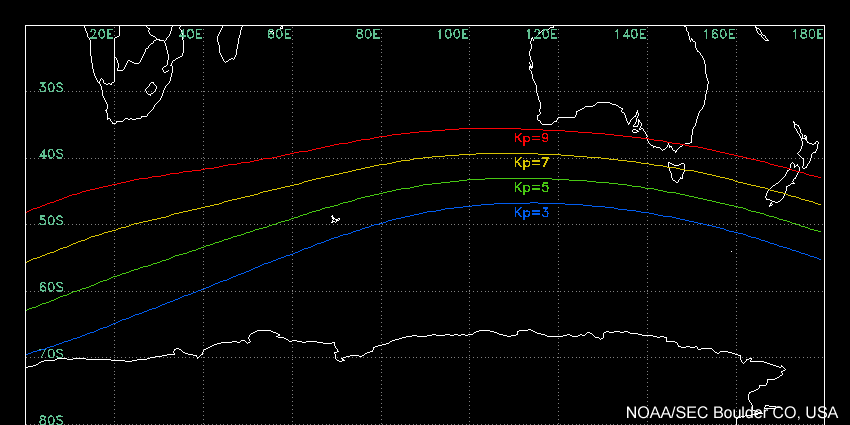 Required Kp to see aurora